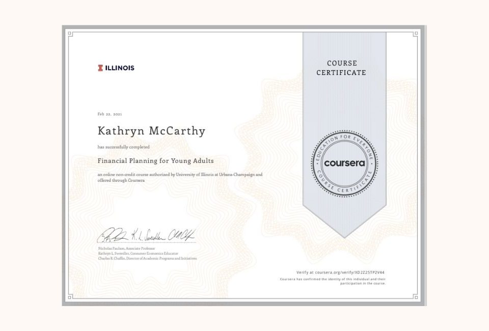 Financial Planning certificate
